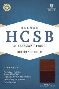 HCSB Super Giant Print Ref Brn:Tan Index