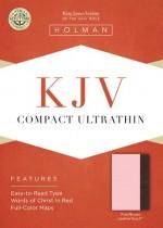 KJV Compact Ultraslim Bible Pink Bnd Lth