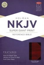 NKJV Super Giant Print Ref Bible Mahog B