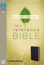NIV Giant Print Reference Bible Blk Inde
