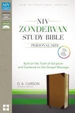 NIV Zondervan Study Bible Pers Size Brwn