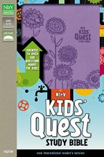 NIrV Kid's Quest Study Bible Lavender Bn