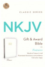 NKJV Gift & Award Bible White Bnd Lthr