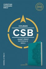 CSB Giant Print Reference Bible Teal Bnd