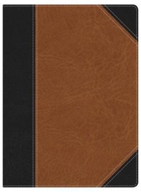 NKJV Study Bible Black:Tan Bnd Lthr Inde