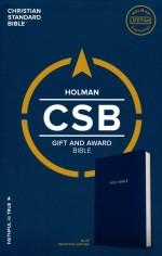 CSB Gift & Award Bible Blue Bnd Lthr