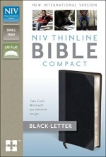 NIV Thinline Bible Compact CharcoalBlk