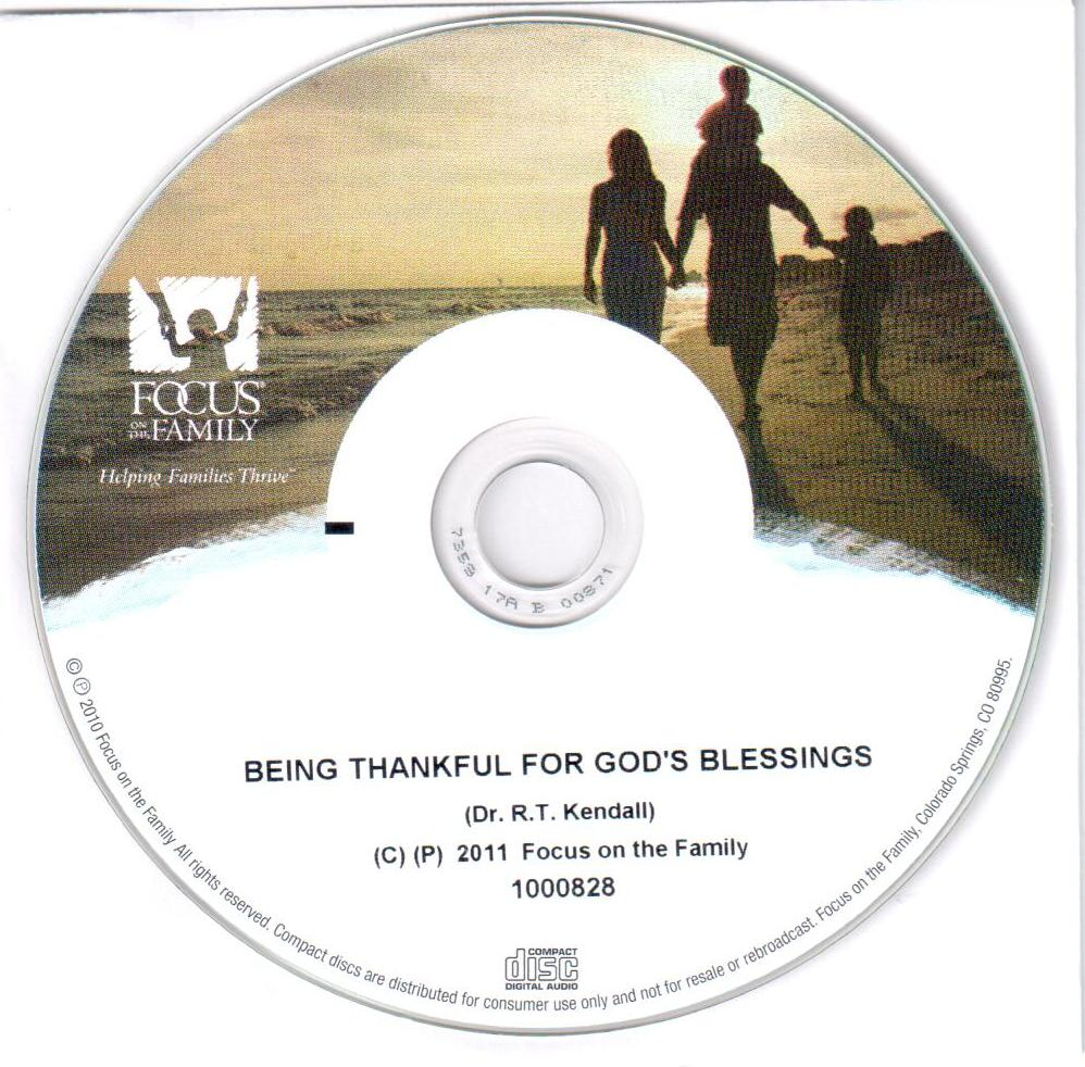 Being Thankful for God's Blessings (CD)