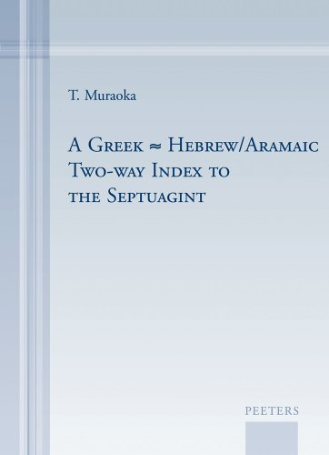 Greek Hebrew Aramaic Two-Way Index