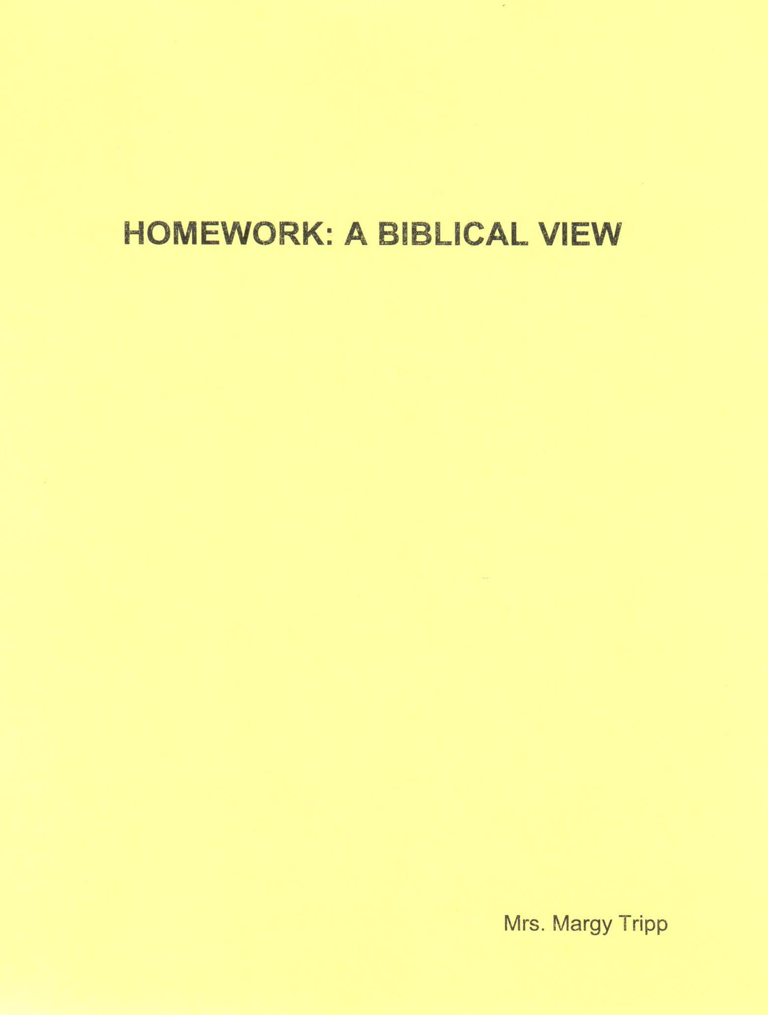 Homework - A bilical View