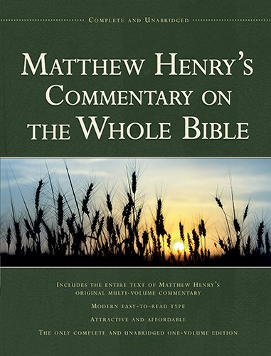 Matthew Henry's Commentary on Bible (1vl