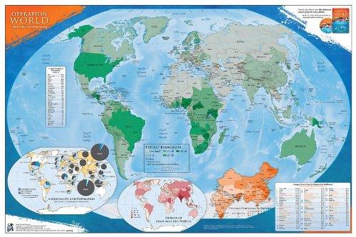 Operation World Prayer Map