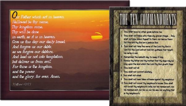 Poster Set (10 Commandments & Lord's Pra
