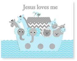 Poster Set (Jesus Loves Me Noah's Ark)