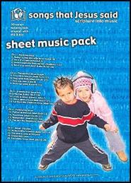 Songs the Jesus Said Sheet Music