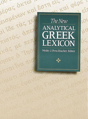 The New Analytical Greek Lexicon